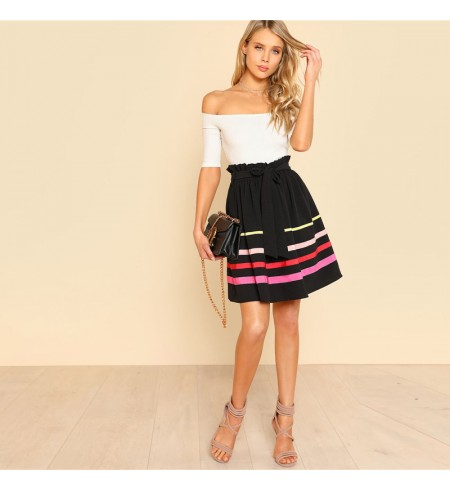 Elegantiškas raudonos spalvos sijonas