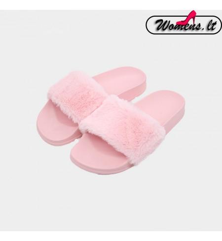 Moteriškos rožinės spalvos šlepetės