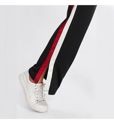 Kelnės su balta juosta