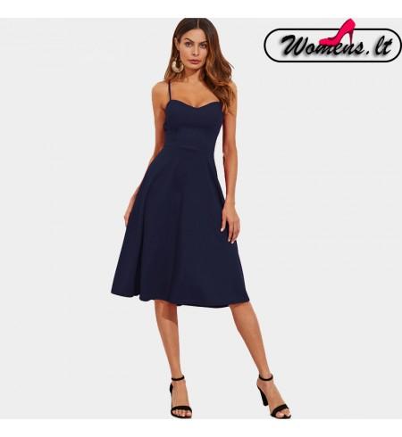 Elegantiška ilgų rankovių suknelė