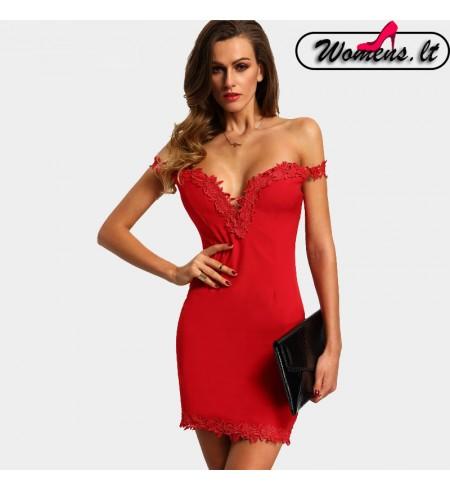 """Raudonos Spalvos Suknelė ,,Margaret"""""""