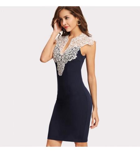 """Tamsiai Mėlynos Spalvos Suknelė ,,Elegant"""""""