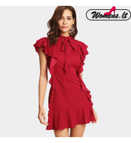"""Raudonos Spalvos Suknelė ,,Beauty"""""""