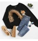 Moteriškas Megztinis su Lape